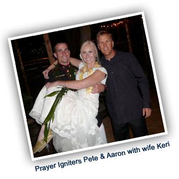 Pete, Aaron & wife Keri